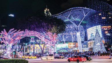 рождество на Orchard Road