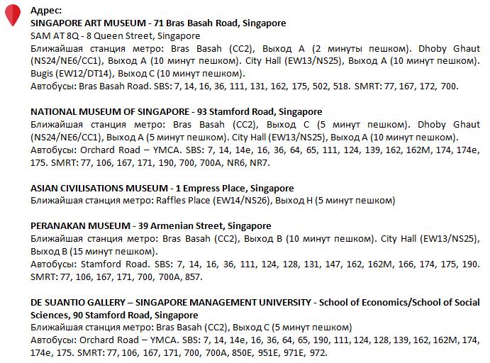Международная выставка Singapore Biennale