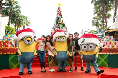 Все звёзды Санта-Клауса на Рождество-Юниверсал Студио-Сингапур
