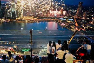 Обратный отсчёт до Нового 2017 года на Марина Бей