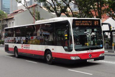 Городской автобус в Сингапуре SMRT