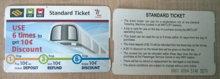 Транспортная карта на 6 поездок (Standart Ticket)