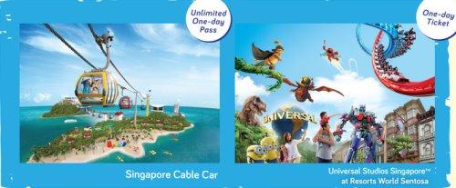 Канатная дорога Singapore Cable Car: CABLE CAR SKY PASS + парк развлечений Universal Studios Singapore