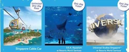 Канатная дорога Singapore Cable Car: CABLE CAR SKY PASS + океанариум S.E.A. Aquarium + парк развлечений Universal Studios Singapore