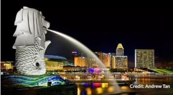 Бесплатная экскурсия по Сингапуру. City Sights Tour-Merlion Park