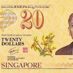 Купюра 20 сингапурских доллара, лицевая сторона