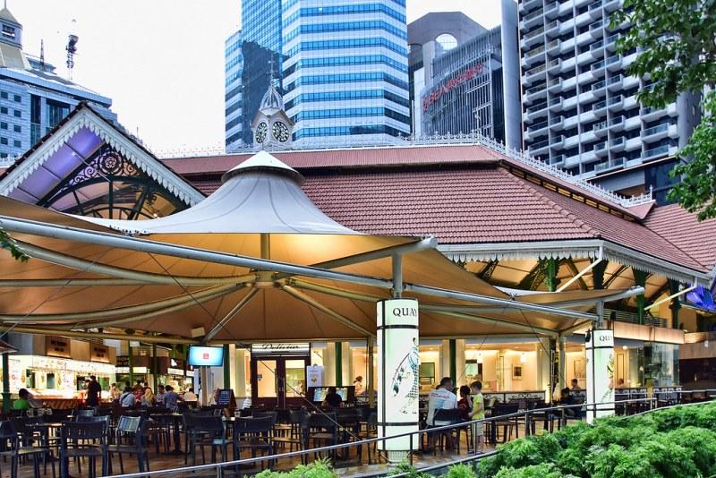 Рынок Лау Па Сат (Lau Pa Sat Market) в самом сердце Сингапура