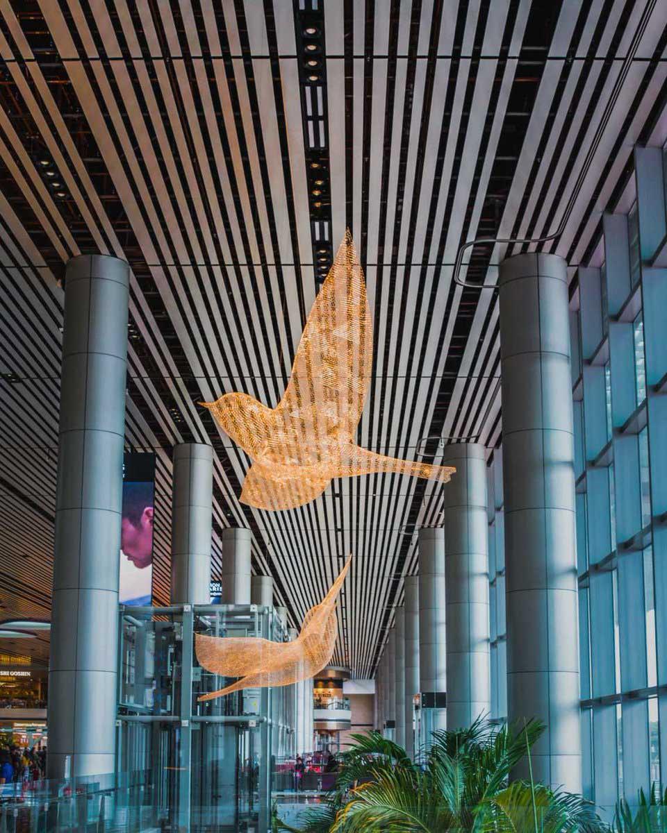 Скульптура птиц Les Oiseaux в Чанги