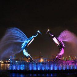 «Танец журавлей» на острове Сентоза, Сингапур (Crane Dance)